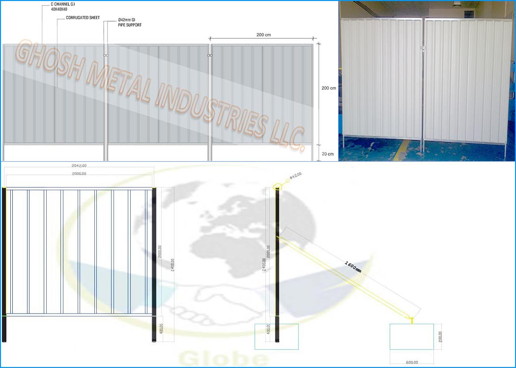 Hoarding | Fencing | GI Chanel | Construction boundary | temporary fencing supplier in Dubai | UAE | Oman | Saudi | Qatar