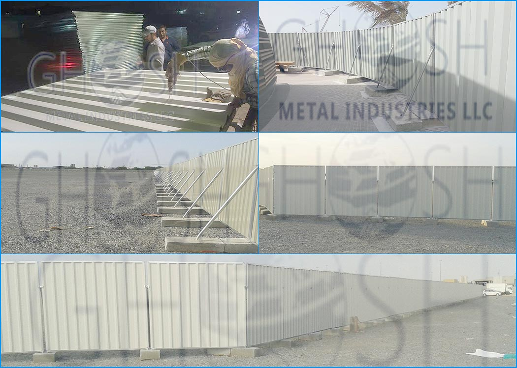 Hoarding | Fencing | GI Chanel | Construction boundary | temporary fencing supplier in Abu Dhabi, ghana, Dubai | UAE | Oman | Saudi | Qatar