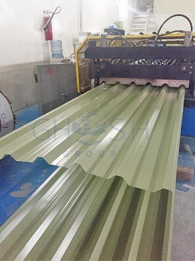 Green profile sheet supplier in UAE Oman Saudi Qatar