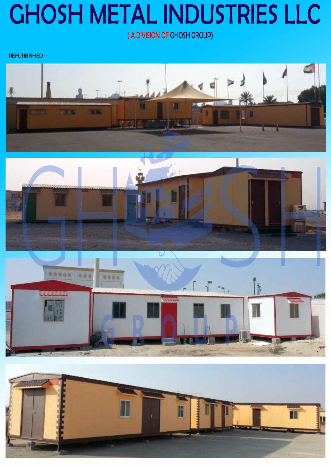 Portacabin manufacturer supplier Dubai | UAE | Oman | Saudi | Qatar