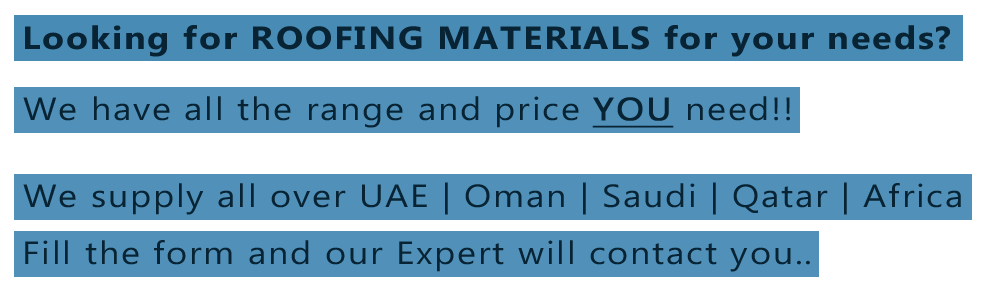 profile sheet manufacturers uae oman saudi qatar