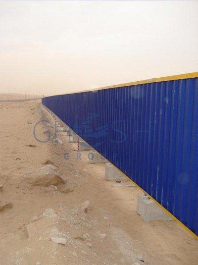 Continuous Steel Hoarding Fencing supplier in Dubai | UAE | Oman | Saudi | Qatar