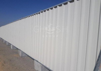 Continuous Steel Fencing and Hoarding Supplier in UAE