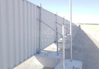 Continuous Steel Hoarding | Fencing supplier in Dubai | UAE | Oman | Saudi | Qatar