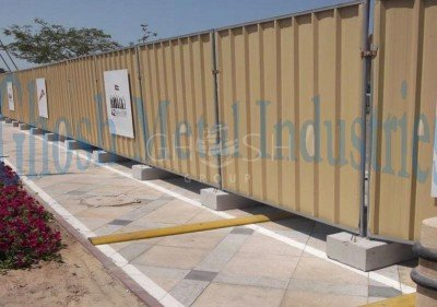 Discontinuous Steel Hoarding Manufacturer in UAE Oman