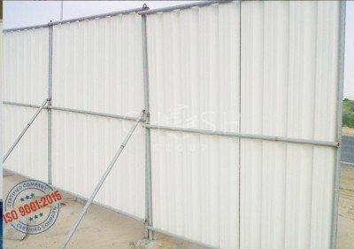 Corrugated perimeter fencing with pipe support - UAE | Oman (Salalah, Muscat, Sohar, Nizwa, Barka, Ibri) | Saudi | Iraq | Kuwait | Bahrain