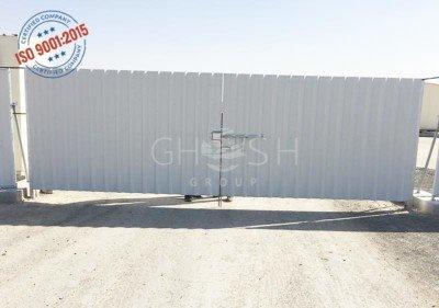 Corrugated factory gate manufacturer UAE | Oman | Saudi | Iraq | Kuwait | Bahrain